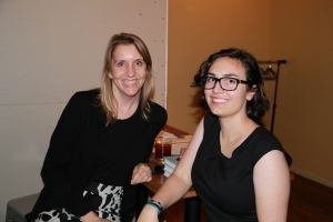 Melinda (right) with POW co-founder Nicole Hughes. Photo by Michelle Anderson.