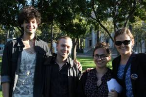 Adam Magill, Brian Van Winkle, Melinda Marks and Julia Halprin Jackson at our July show in San Jose's St. James Park.